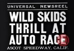 Image of auto race Ascot Speedway California USA, 1935, second 4 stock footage video 65675041278