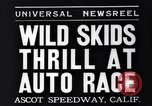 Image of auto race Ascot Speedway California USA, 1935, second 6 stock footage video 65675041278