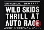 Image of auto race Ascot Speedway California USA, 1935, second 8 stock footage video 65675041278