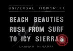 Image of surfing Venice Beach Los Angeles California USA, 1935, second 1 stock footage video 65675041280
