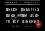 Image of surfing Venice Beach Los Angeles California USA, 1935, second 2 stock footage video 65675041280