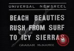 Image of surfing Venice Beach Los Angeles California USA, 1935, second 9 stock footage video 65675041280