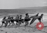 Image of surfing Venice Beach Los Angeles California USA, 1935, second 37 stock footage video 65675041280