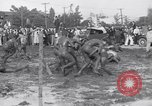 Image of mud wrestling Los Angeles California USA, 1936, second 20 stock footage video 65675041292