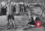 Image of mud wrestling Los Angeles California USA, 1936, second 54 stock footage video 65675041292