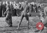 Image of mud wrestling Los Angeles California USA, 1936, second 55 stock footage video 65675041292