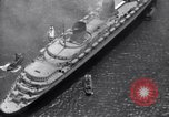Image of French liner SS Normandie New York City USA, 1936, second 36 stock footage video 65675041298