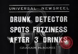 Image of Drunk detector Cleveland Ohio USA, 1936, second 1 stock footage video 65675041302