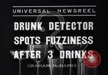 Image of Drunk detector Cleveland Ohio USA, 1936, second 4 stock footage video 65675041302