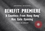 Image of premiere of movie 'A Countess From Hong Kong' directed by Charlie Chap New York United States USA, 1967, second 2 stock footage video 65675041324