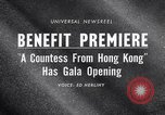 Image of premiere of movie 'A Countess From Hong Kong' directed by Charlie Chap New York United States USA, 1967, second 4 stock footage video 65675041324