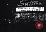 Image of premiere of movie 'A Countess From Hong Kong' directed by Charlie Chap New York United States USA, 1967, second 8 stock footage video 65675041324