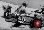 Image of inflated boat Quantico Virginia USA, 1953, second 3 stock footage video 65675041356