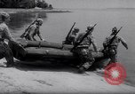 Image of inflated boat Quantico Virginia USA, 1953, second 17 stock footage video 65675041356
