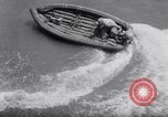 Image of inflated boat Quantico Virginia USA, 1953, second 39 stock footage video 65675041356