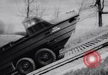Image of amphibious vehicle California United States USA, 1956, second 17 stock footage video 65675041375