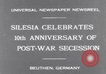 Image of Chancellor Bruening Gleiwitz Germany, 1931, second 2 stock footage video 65675041395