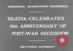 Image of Chancellor Bruening Gleiwitz Germany, 1931, second 3 stock footage video 65675041395