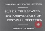 Image of Chancellor Bruening Gleiwitz Germany, 1931, second 5 stock footage video 65675041395