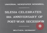 Image of Chancellor Bruening Gleiwitz Germany, 1931, second 7 stock footage video 65675041395