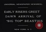 Image of Circus New York City USA, 1931, second 9 stock footage video 65675041396