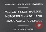 Image of Gangster Fred Burke captured by police Saint Joseph Michigan USA, 1931, second 3 stock footage video 65675041400
