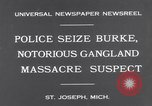 Image of Gangster Fred Burke captured by police Saint Joseph Michigan USA, 1931, second 5 stock footage video 65675041400