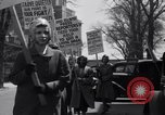 Image of picket line Jamaica New York USA, 1937, second 36 stock footage video 65675041425