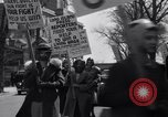 Image of picket line Jamaica New York USA, 1937, second 37 stock footage video 65675041425