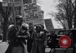 Image of picket line Jamaica New York USA, 1937, second 38 stock footage video 65675041425