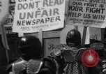 Image of picket line Jamaica New York USA, 1937, second 40 stock footage video 65675041425