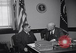 Image of Dwight Eisenhower talking with Speaker Martin United States USA, 1953, second 62 stock footage video 65675041443