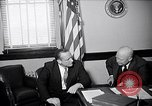 Image of Dwight Eisenhower meeting with William Knowland United States USA, 1953, second 1 stock footage video 65675041444