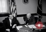 Image of Dwight Eisenhower meeting with William Knowland United States USA, 1953, second 2 stock footage video 65675041444