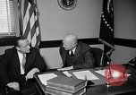 Image of Dwight Eisenhower meeting with William Knowland United States USA, 1953, second 4 stock footage video 65675041444
