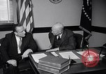 Image of Dwight Eisenhower meeting with William Knowland United States USA, 1953, second 6 stock footage video 65675041444