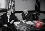 Image of Dwight Eisenhower meeting with William Knowland United States USA, 1953, second 7 stock footage video 65675041444