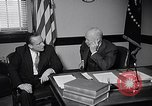 Image of Dwight Eisenhower meeting with William Knowland United States USA, 1953, second 12 stock footage video 65675041444