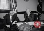 Image of Dwight Eisenhower meeting with William Knowland United States USA, 1953, second 14 stock footage video 65675041444