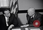 Image of Dwight Eisenhower meeting with William Knowland United States USA, 1953, second 16 stock footage video 65675041444