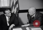Image of Dwight Eisenhower meeting with William Knowland United States USA, 1953, second 17 stock footage video 65675041444