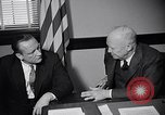 Image of Dwight Eisenhower meeting with William Knowland United States USA, 1953, second 18 stock footage video 65675041444