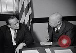 Image of Dwight Eisenhower meeting with William Knowland United States USA, 1953, second 20 stock footage video 65675041444