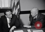 Image of Dwight Eisenhower meeting with William Knowland United States USA, 1953, second 22 stock footage video 65675041444