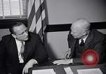 Image of Dwight Eisenhower meeting with William Knowland United States USA, 1953, second 23 stock footage video 65675041444