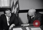 Image of Dwight Eisenhower meeting with William Knowland United States USA, 1953, second 24 stock footage video 65675041444