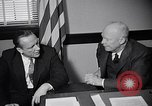 Image of Dwight Eisenhower meeting with William Knowland United States USA, 1953, second 25 stock footage video 65675041444
