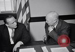 Image of Dwight Eisenhower meeting with William Knowland United States USA, 1953, second 28 stock footage video 65675041444