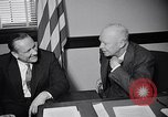 Image of Dwight Eisenhower meeting with William Knowland United States USA, 1953, second 29 stock footage video 65675041444