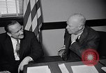 Image of Dwight Eisenhower meeting with William Knowland United States USA, 1953, second 30 stock footage video 65675041444